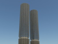 Marina City Chicago Building HD