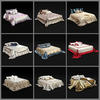 amazing bedclothes 01 3d model