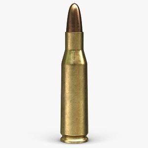 3d model cartridge 4 6x30mm 2