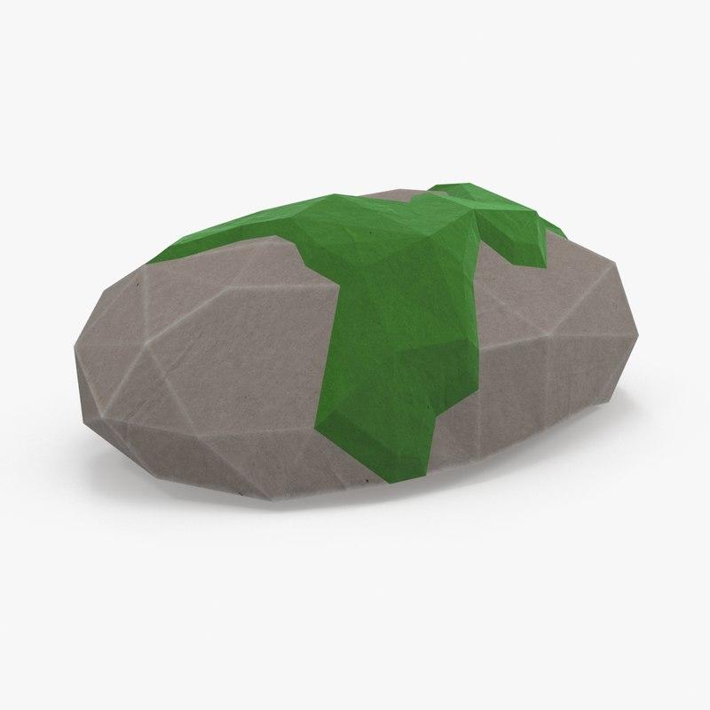 mossy rock 2 3d ma