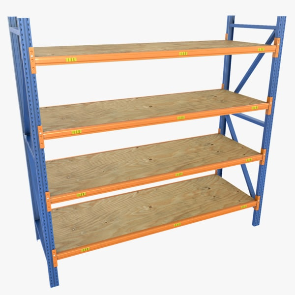 3d shelves polys unity