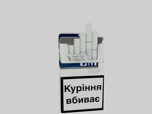 3d pack cigarettes lm blue