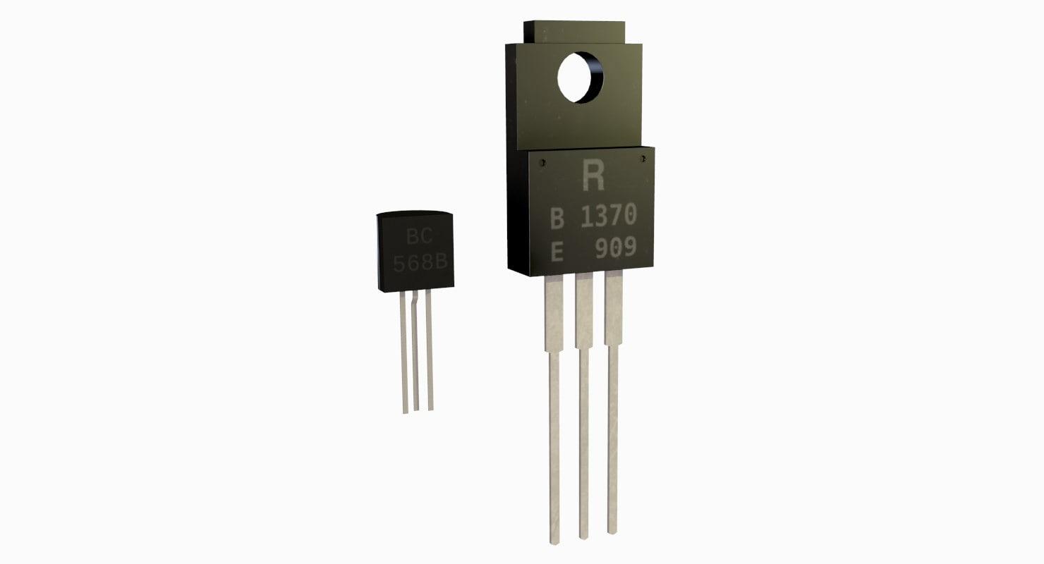 3d model transistors component