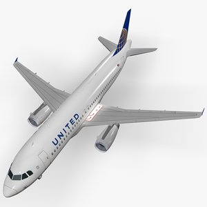 airbus united airlines c4d