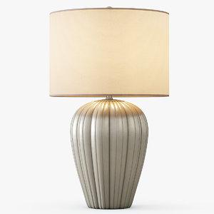gray brown ceramic table lamp 3ds