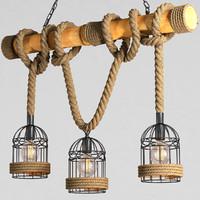 chandelier loft rope 3d max