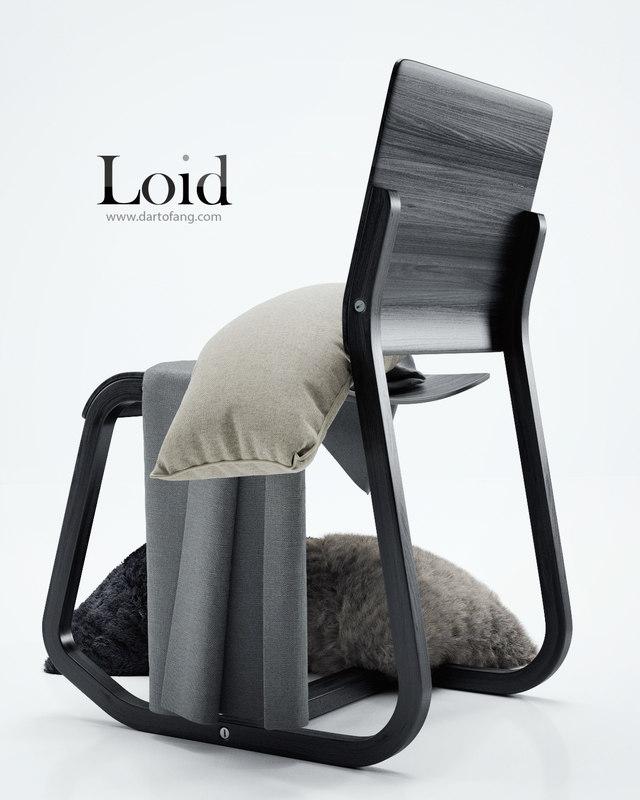 3d model loid chair