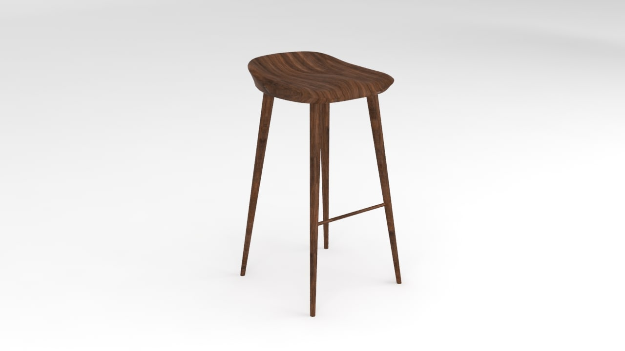 max stool wooden wood