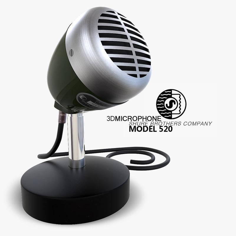 3d max microphone shure 520