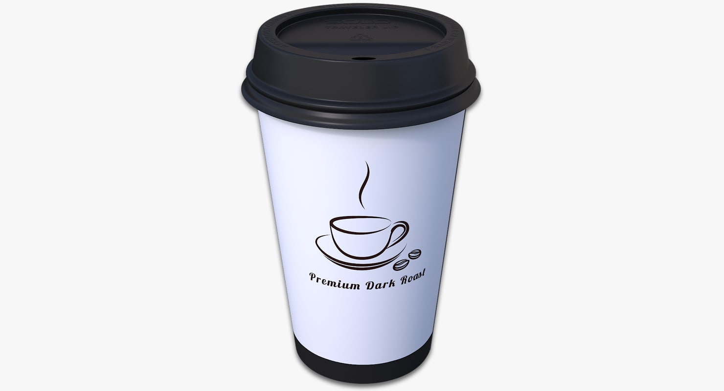 3d takeout cup model