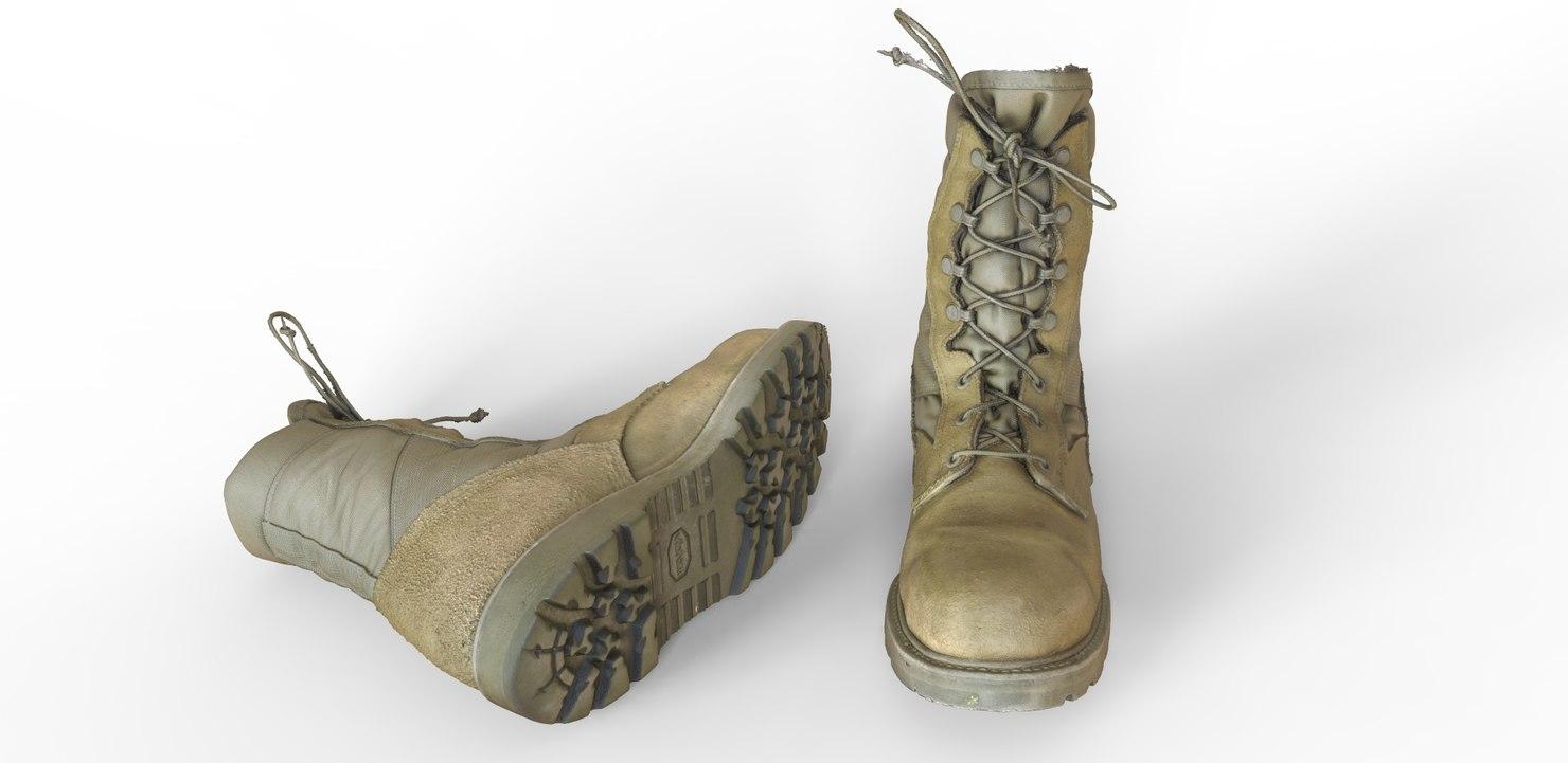 3d model air force combat boot