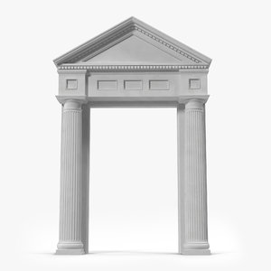 door pediment greco roman 3ds