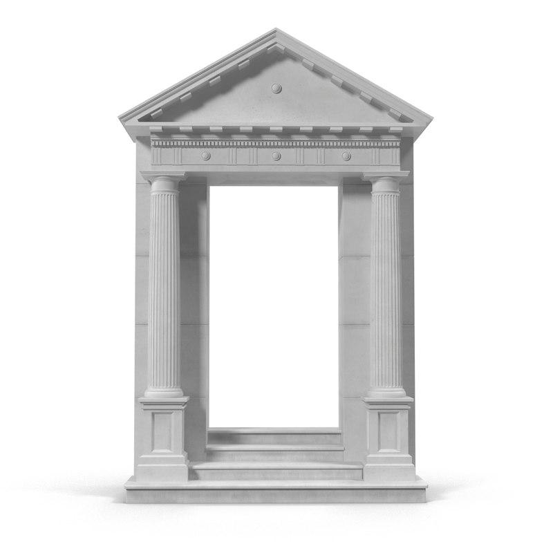 3d door pediment greco roman  sc 1 st  TurboSquid & door pediment greco roman pezcame.com
