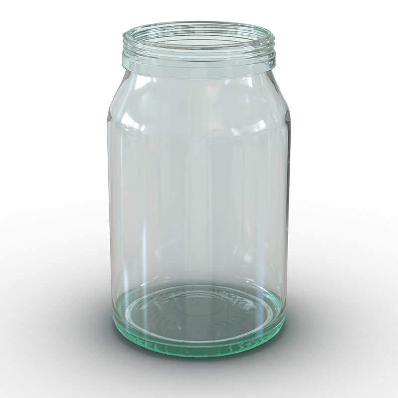 3d obj glass jar
