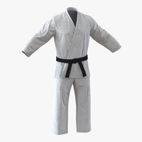 3d karate white suit