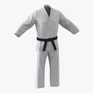 3d karate white suit