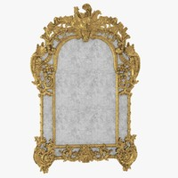 Louis XIV giltwood mirror By Denoyelle antiquites