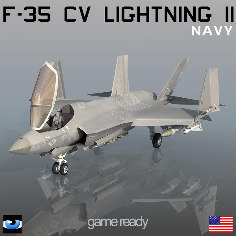 f-35 cv lightning ii 3d max