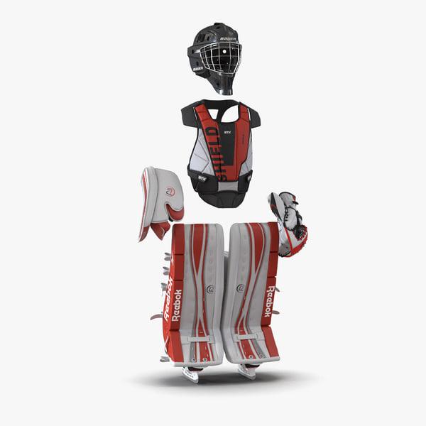 3d hockey goalie protection kit