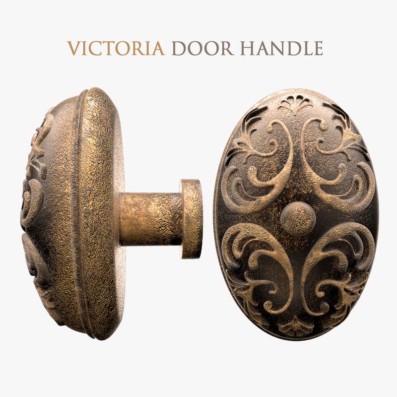 victorian door handle 3d max