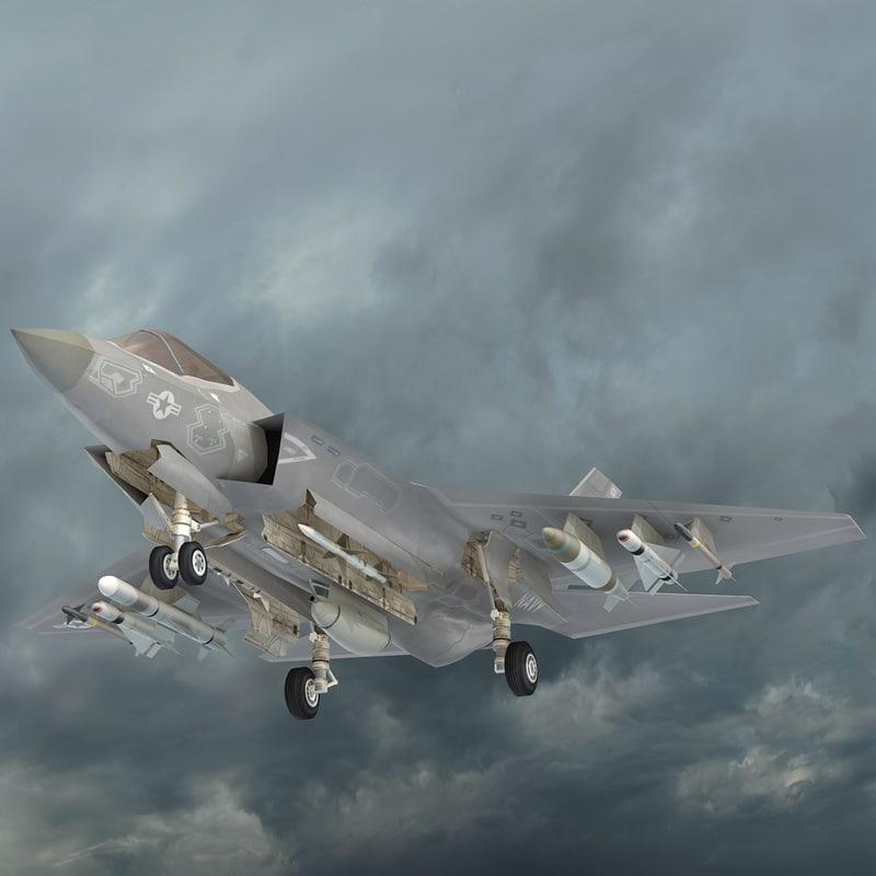 f-35 cv lightning ii 3d model