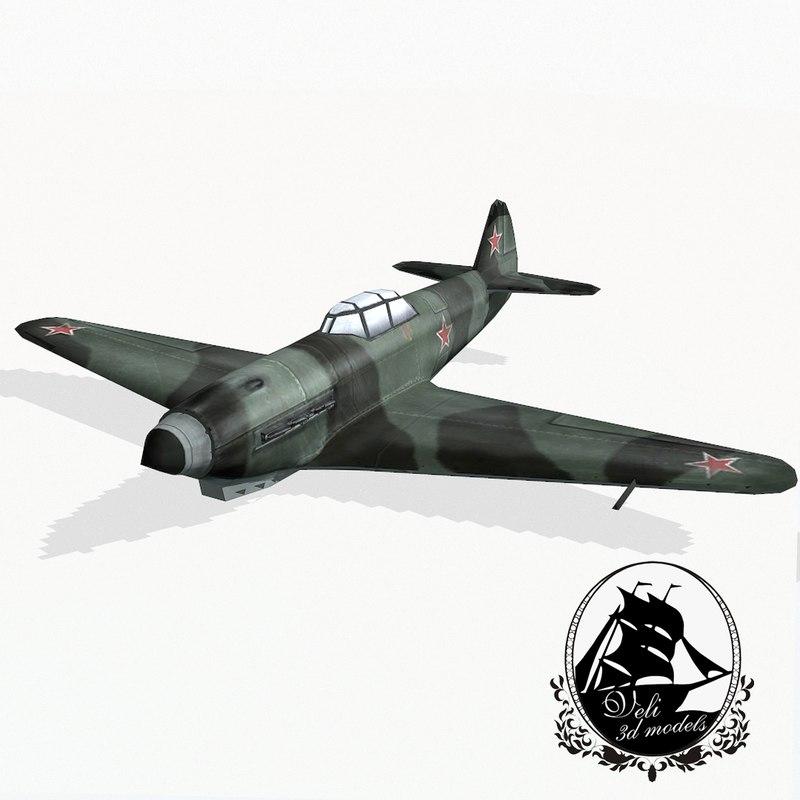3d model yakovlev yak-9 fighter aircraft