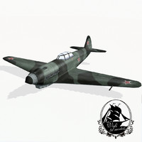 3d model yakovlev yak-9 fighter aircraft