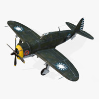 american republic p-47d real-time obj