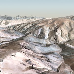 16km mountain terrain landscape 3d model
