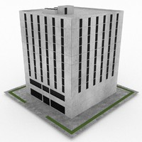 office build 08 3d model