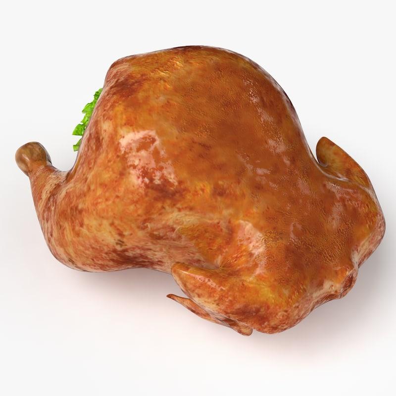 fried chicken 3d model