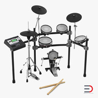 3d model electronic drum kit set
