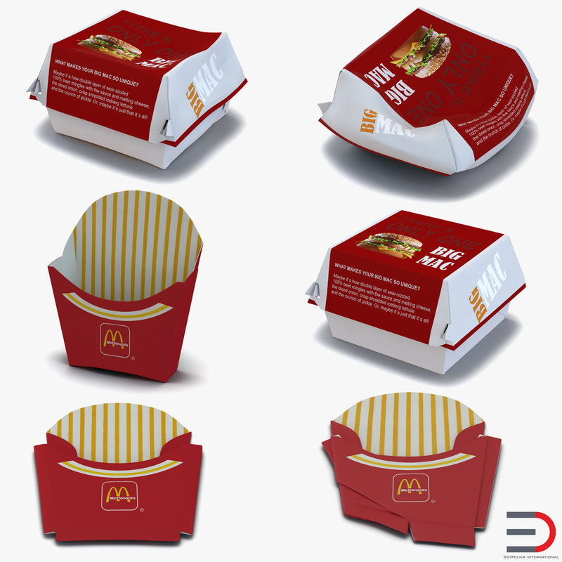 3d model of food containers 2