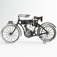 harley-davidson motorbike 3d x