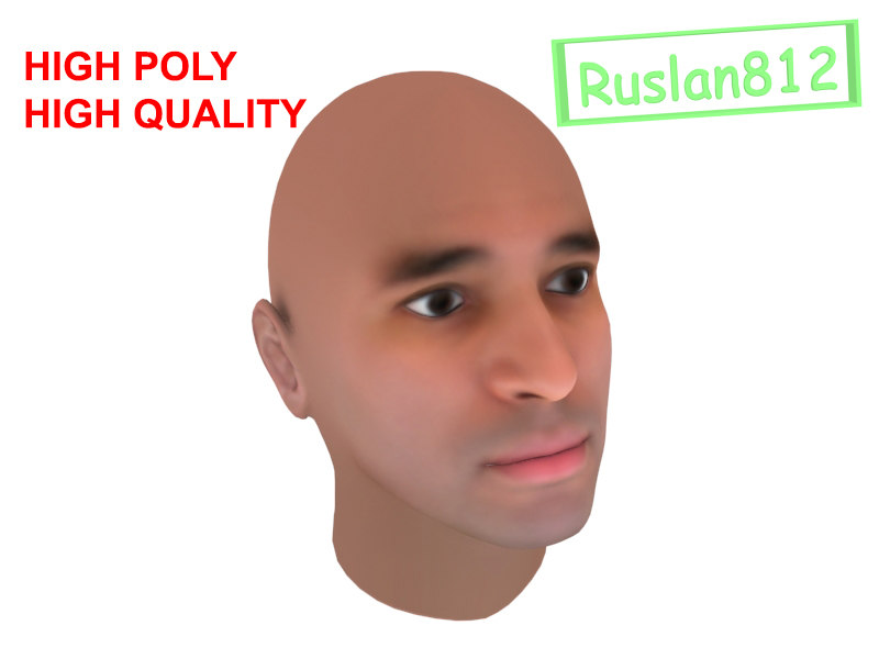 realistic man head max