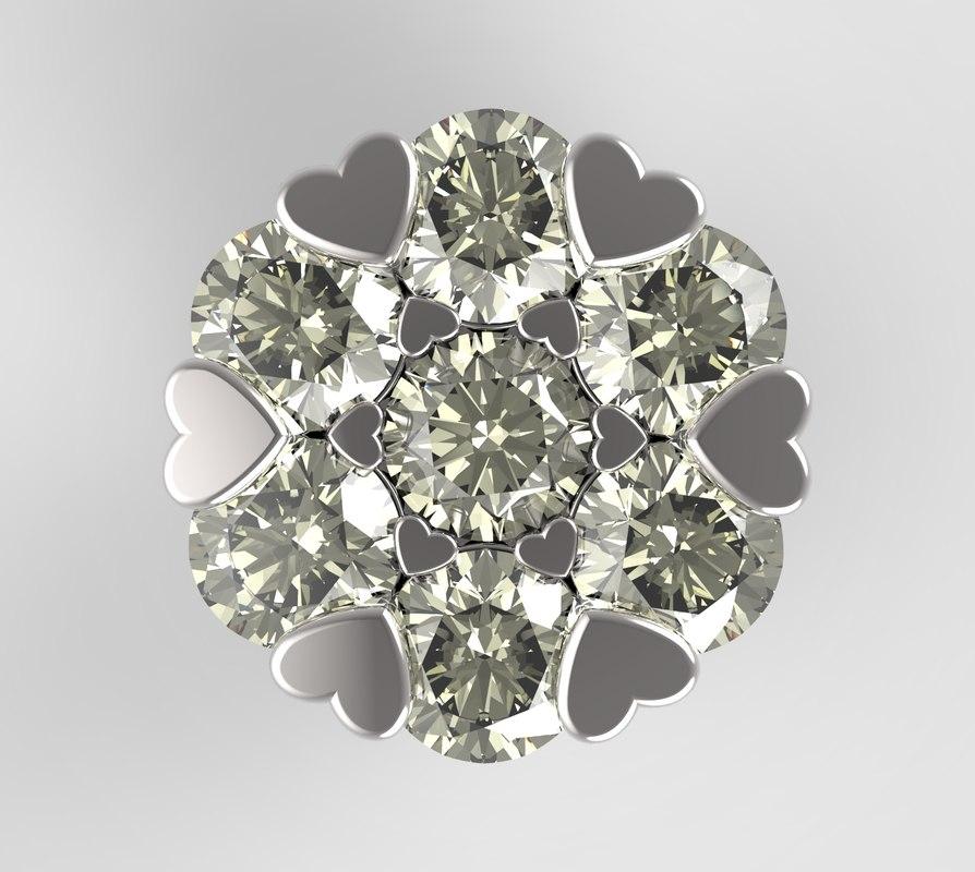 3dm ring earring