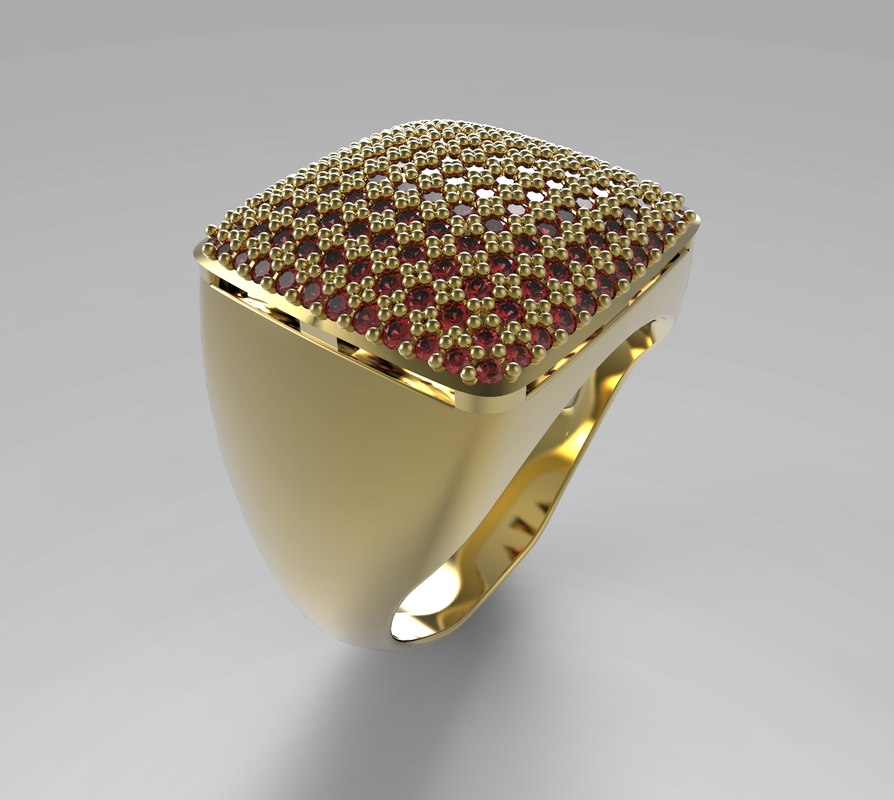 3d ring pave