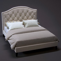 bed tufted 3d max