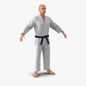 karate fighter 3d model