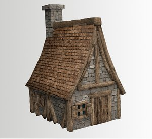 3d model fantasy medieval house