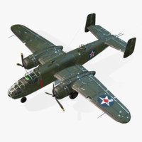 Real-Time Airplane B-25 Mitchell