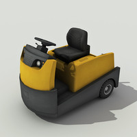 3d model tow tractor -