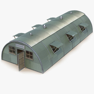 3d quonset barrack
