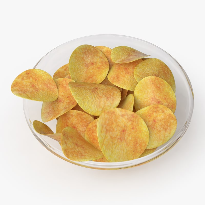 3d chips real realistic model