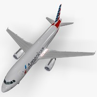 3d airbus american airlines model