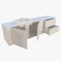 wall bathroom cabinet 3d obj