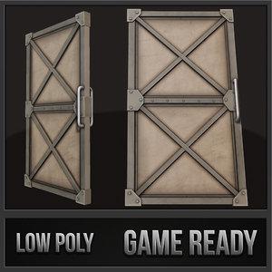 steel door 3d model