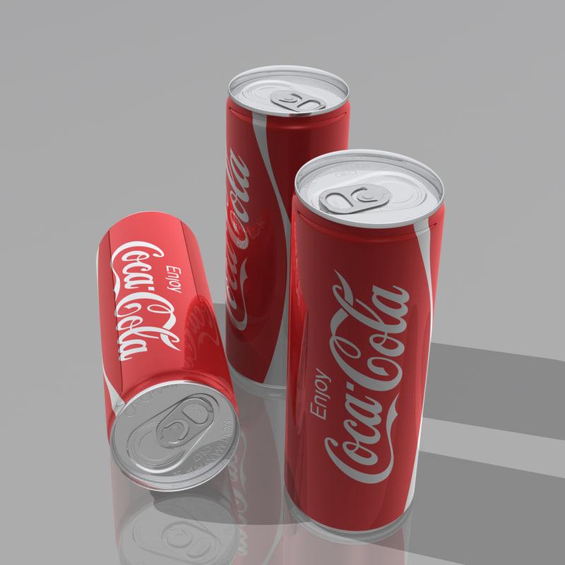 aluminium beverage 3d obj