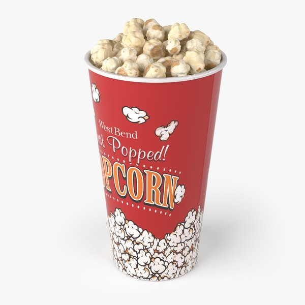 popcorn real realistic 3d model