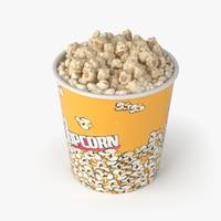 3d popcorn big model